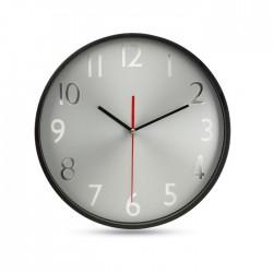 Reloj pared esfera plateada