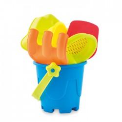 Cubo de playa con 6 juguetes