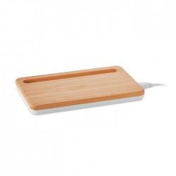 Cargador inalámbrico bambú
