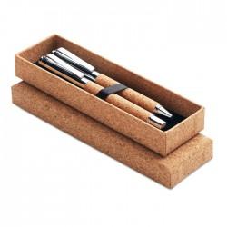 Set bolígrafo y roller corcho
