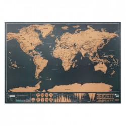 Mapamundi para rascar 42x30 cm