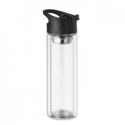 Botella cristal dob.capa 380ml