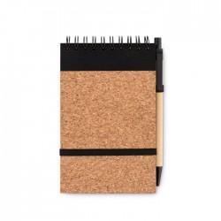 Libreta A6 bolígrafo tapa corch