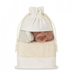 Set de baño en bolsa jute