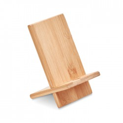 Soporte para telefono de bambú