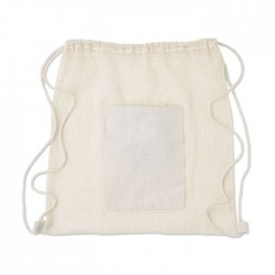 Bolsa algodón bolsillo rejilla