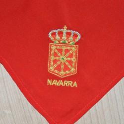 Pañuelo Bordado escudo de Navarra
